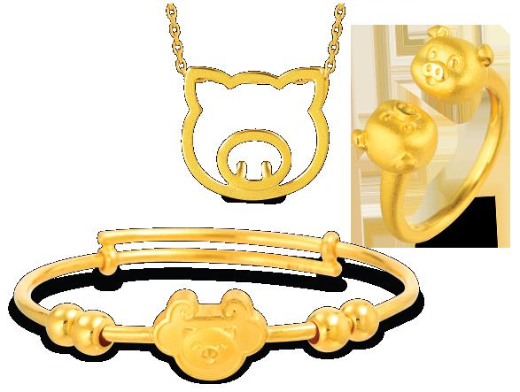 小豬黃金首飾