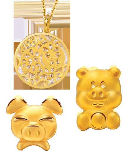 十二生肖黃金飾品